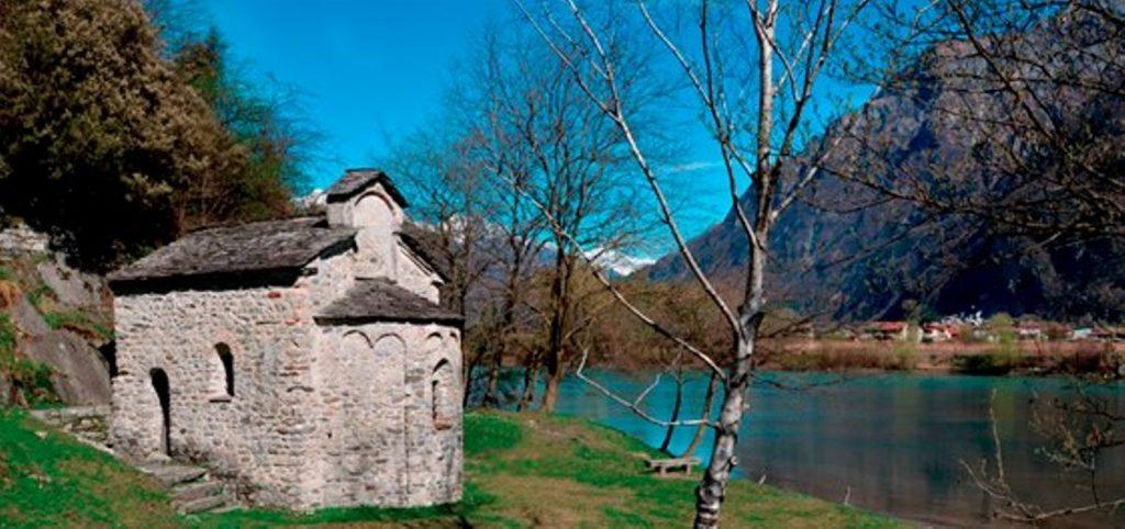 Tempio San Fedelino - Lago di Novate Mezzola - Riserva Naturale Pian di Spagna